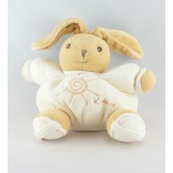 Mini Doudou lapin blanc soleil beige KALOO ECOLOGIQUE
