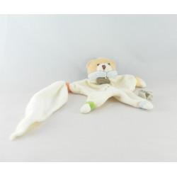 Doudou plat ours blanc rose Mon doudou BABY NAT
