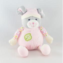 Doudou souris rose nuage montgolfiére GIPSY