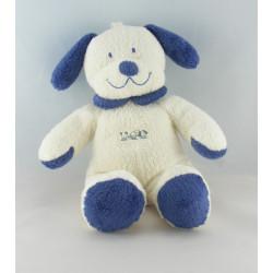 Doudou Chien blanc bleu Nicotoy The Baby Collection