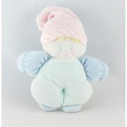 Doudou hochet lutin bébé bleu rose BABI COROLLE