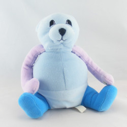 Doudou musical ours bleu rose BERCHET