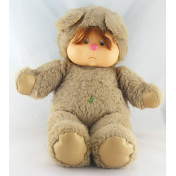 Ancienne Peluche ours gris beige Nombrilou AJENA PAMPERS