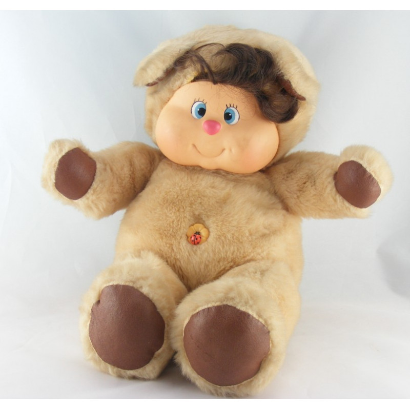 Ancienne Peluche ours beige Nombrilou AJENA PAMPERS