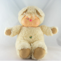 Ancienne Peluche ours beige écru Nombrilou AJENA PAMPERS
