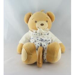 Doudou musical accordéon ours blanc coeurs bleu KALOO