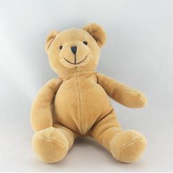 Doudou ours brun marron foulard bleu HM H ET M