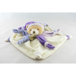 Doudou et compagnie plat ours arlequin violet Collector