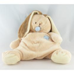 Doudou lapin marron queue et nez bleu Bloupi STARTOY