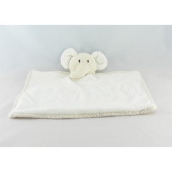 Doudou ours blanc noeud rose HM H ET M