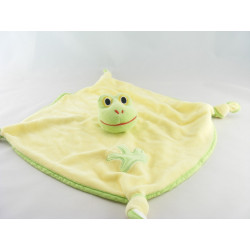 Doudou plat noeuds jaune  grenouille verte GIPSY