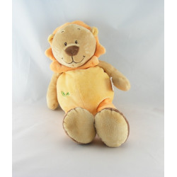 Doudou lion beige orange rouge DOUKIDOU