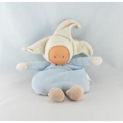 Doudou Poupée lutin bleu ciel avec grelot Corolle