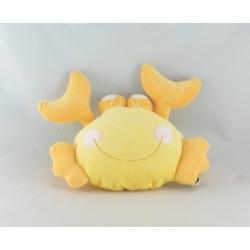 Doudou plat Crabe jaune pieuvre brodée MOTS D'ENFANTS