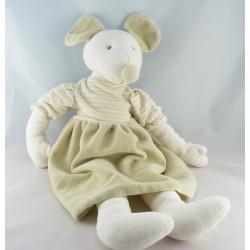 Doudou ours blanc pyjama blanc J-LINE