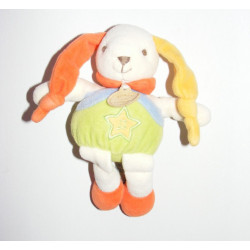 Mini doudou Lapin multicolore Doudou et Compagnie