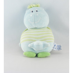 Doudou Hippopotame bleu rayé vert étoile P'TIT DODO