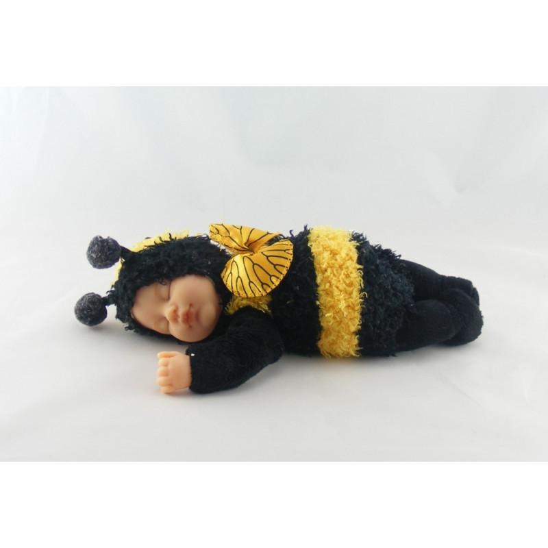 Poupée abeille jaune noir ANNE GEDDES 22 cm