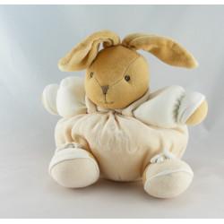 Doudou lapin blanc soleil beige KALOO ECOLOGIQUE