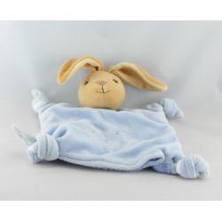 Doudou plat noeud ours endormi bleu enfants KALOO