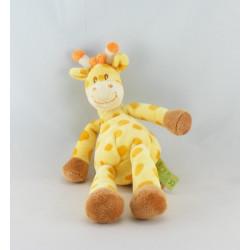 Doudou plat girafe orange vert TITOUTAM