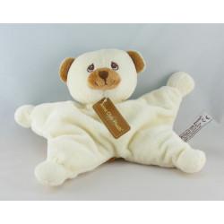 Doudou ours blanc marron avec mouchoir ANNA CLUB PLUSH