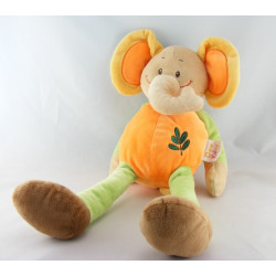 Doudou éléphant orange Safari DOUKIDOU