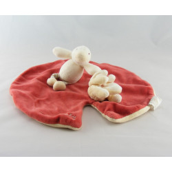 Doudou plat nénuphar rouge canard Edouard MOULIN ROTY