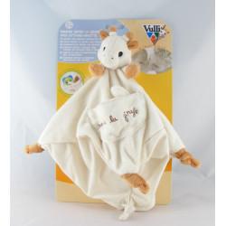 Doudou Plat carré Sophie la Girafe attache tétine VULLI