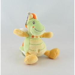 Mini Doudou dragon vert jaune NICOTOY