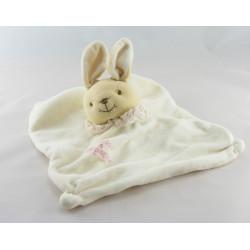 Doudou et compagnie plat lapin blanc col rose