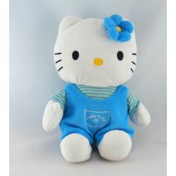 Doudou chat HELLO KITTY bleu rose coeur SANRIO LICENSE