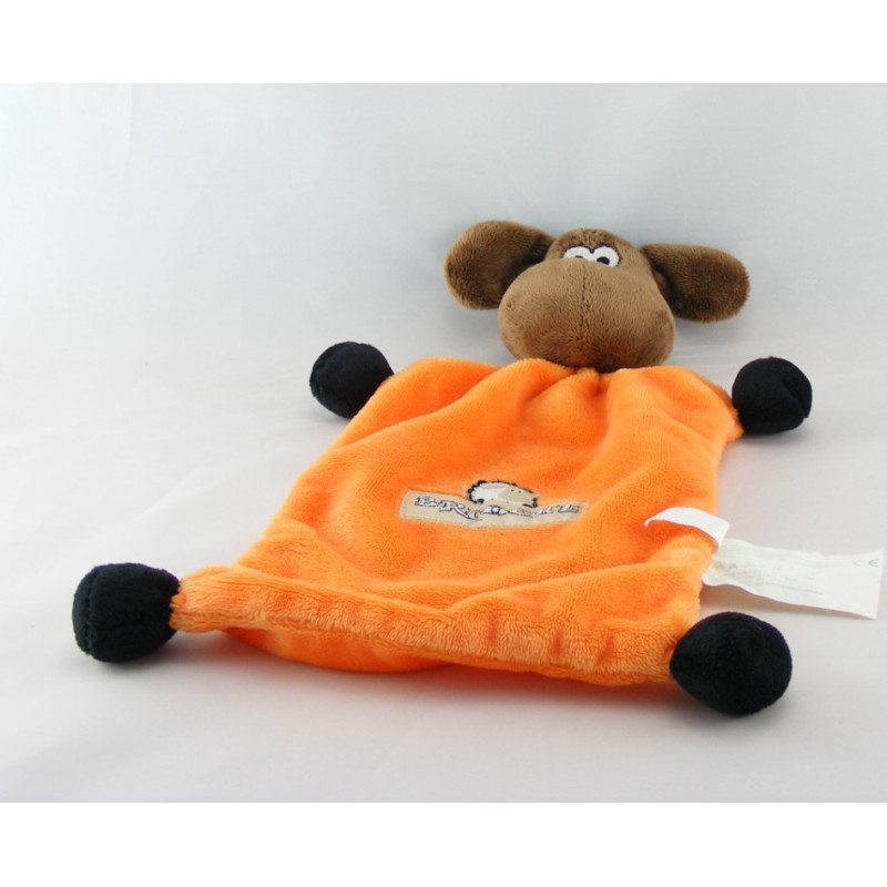 Doudou plat mouton orange BRIOCHE