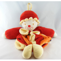 Doudou Clown rouge orange Sucre d'orge