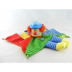Doudou plat clown bleu marine rouge STERNTALER