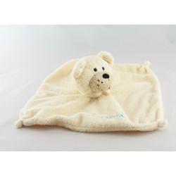 Doudou plat carré ours beige ORCHESTRA