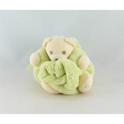 Doudou petit ours Plume vert KALOO