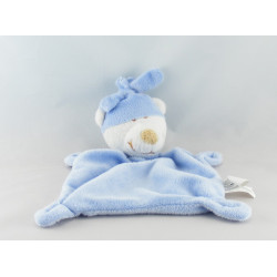 Doudou plat ours bleu new baby CARREFOUR