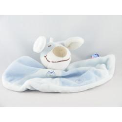 Doudou plat marionnette chien bleu SUCRE D'ORGE