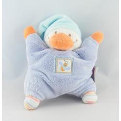 Doudou canard beige bleu orange NATTOU