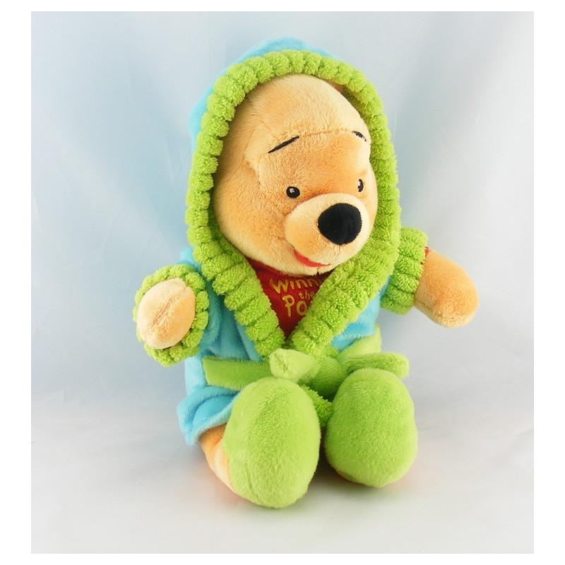 Peluche Tigrou en pyjama robe de chambre peignoir vert mauve DISNEY