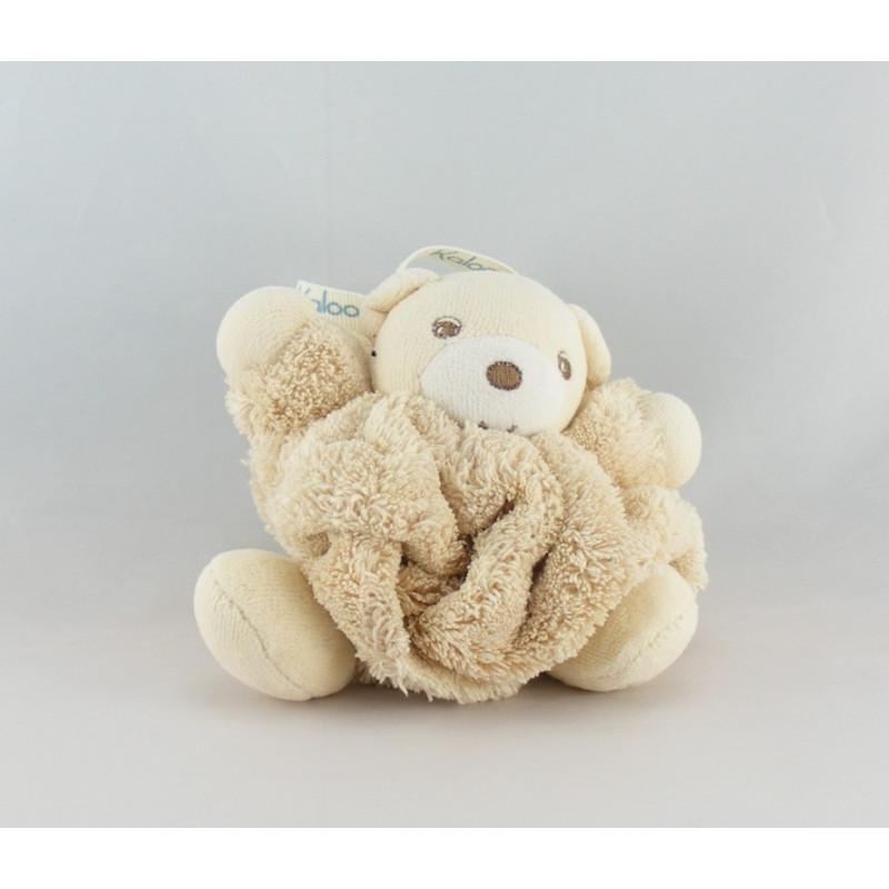 Doudou petit ours Plume marron beige KALOO