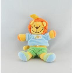 Doudou lion vert bleu MA PTITE TRIBU