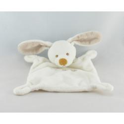 Doudou plat lapin gris beige GRAIN DE BLE