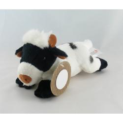 Doudou Vache blanche taches noir Nicotoy