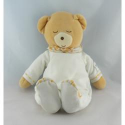 Doudou ours pyjama blanc coeur rose KALOO