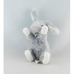 Doudou lapin blanc gris tout doux DOUDOU ET COMPAGNIE