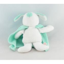 Doudou Ours éponge blanc   bleu avec cape TEX