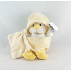 Doudou poussin jaune coquille avec mouchoir BABY NAT NEUF