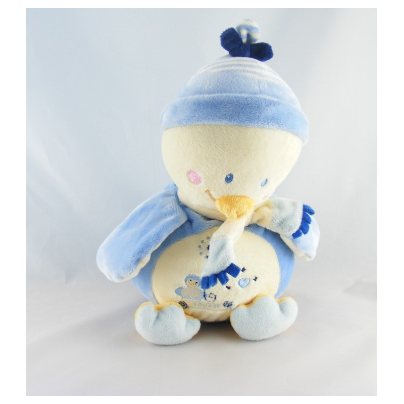 Doudou pingouin bleu blanc Youpik NICOTOY